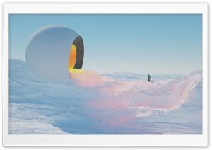 Frozen Landscape, Sci-fi Art