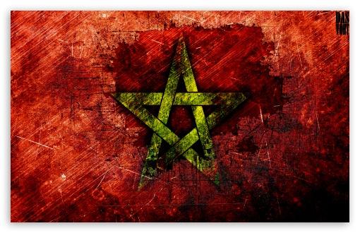 Download Moroccan Flag UltraHD Wallpaper