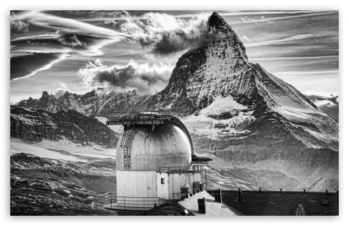 Download The Matterhorn, Monochrome UltraHD Wallpaper
