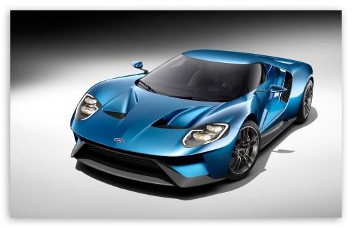 Download 2017 Ford GT Blue Car UltraHD Wallpaper