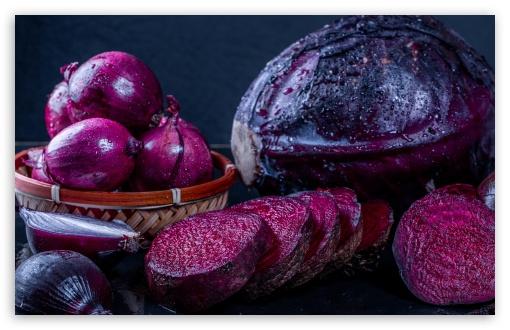 Download Purple Cabbage, Beet, Onion UltraHD Wallpaper