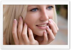 Cute Blond Girl Smilling
