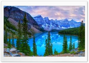 Mountains, Moraine Lake,...