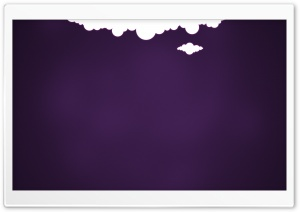 2 Clouds And Purple Background