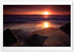 Stones On The Beach, Sunset