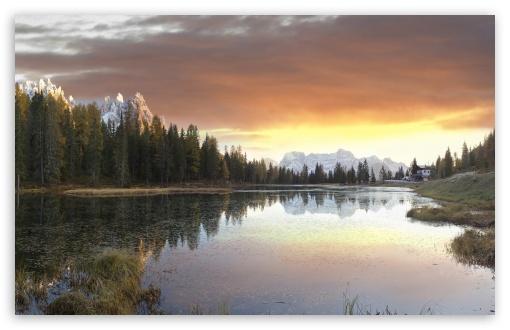 Download Landro Lake, Alta Pusteria, Bolzano District,... UltraHD Wallpaper