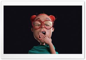 3D Girl Yawning