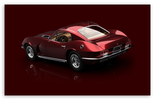 Download 3D Red 1967 Dodge Viper 1 UltraHD Wallpaper