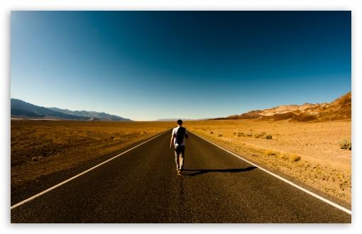 Download Man On The Road UltraHD Wallpaper