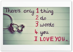 1 Thing 2 Do 3 Words 4 U