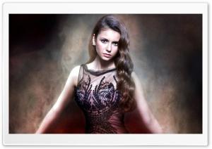 Nina Dobrev In Beautiful Dress