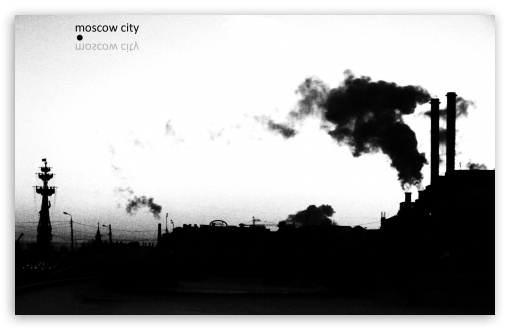 Download Moscow In Black And White UltraHD Wallpaper