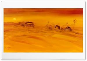 Sahara Desert Oil Painting