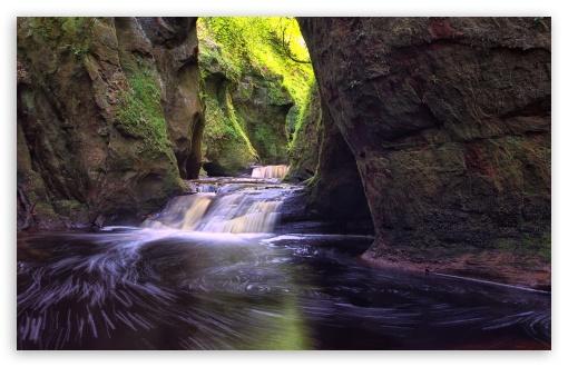 Download Finnich Gorge Waterfalls UltraHD Wallpaper