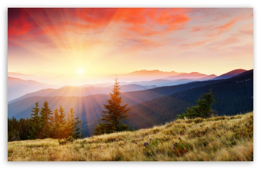 Download On Top Of A Mountain UltraHD Wallpaper
