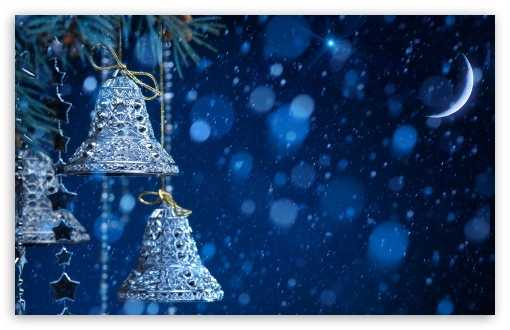 Download Christmas Bells UltraHD Wallpaper