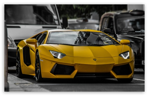 Download Yellow Lamborghini HDR UltraHD Wallpaper