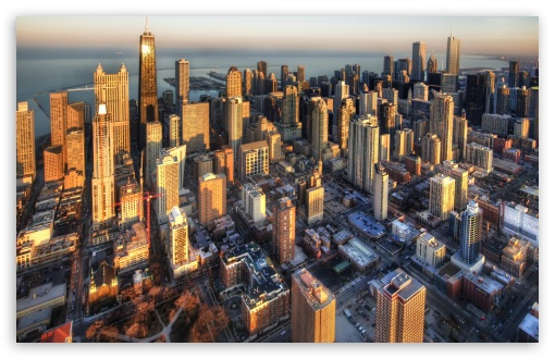 Download Chicago Aerial View UltraHD Wallpaper