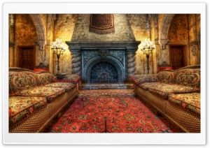 The Fireplace In The Tower Of...