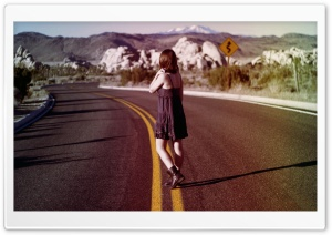 Alone on the road......