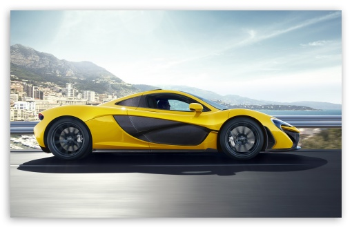 Download 2014 McLaren P1 Side View UltraHD Wallpaper