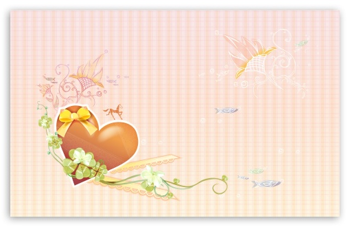 Download Valentine Heart Shapes UltraHD Wallpaper