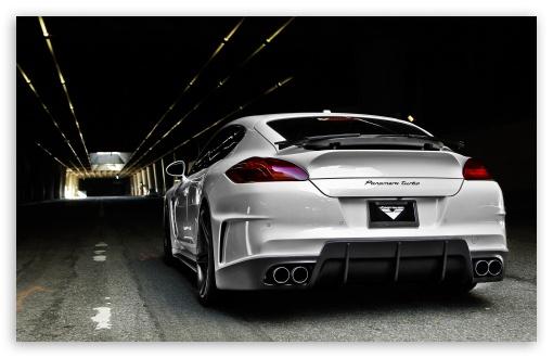 Download Porsche Panamera Vorsteiner Tuning Rear UltraHD Wallpaper