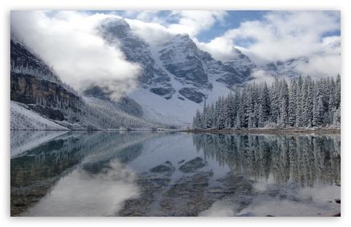 Download Lake Lorraine 2 - Canada UltraHD Wallpaper