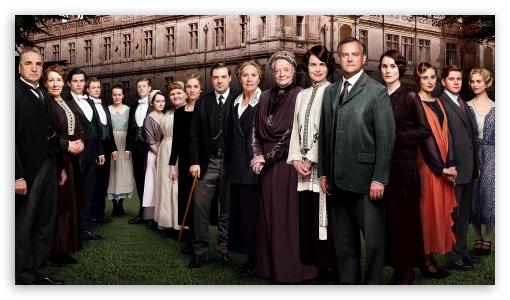 Download Downton Abbey TV Series Cast UltraHD Wallpaper