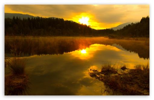 Download Egelsee, Carinthia, Austria early morning,... UltraHD Wallpaper