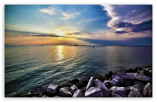 Download Calm Sea HDR UltraHD Wallpaper