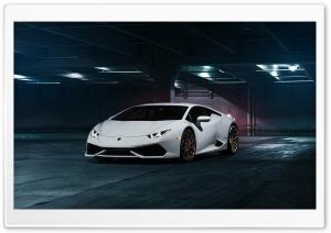 White Lamborghini 4K