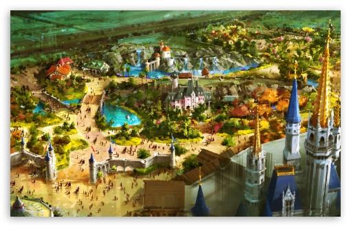 Download Above Fantasyland UltraHD Wallpaper