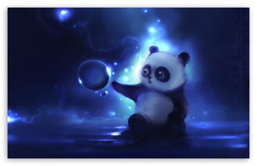 Download Curious Panda Painting UltraHD Wallpaper