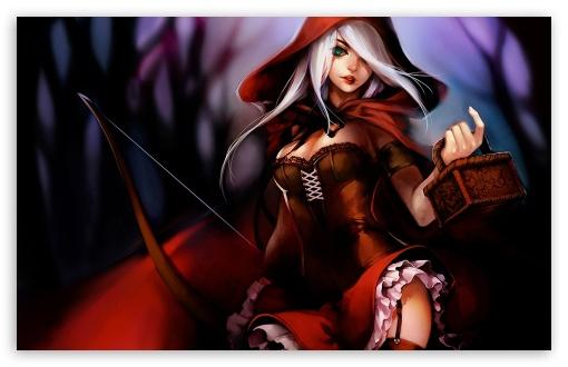 Download Red Riding Hood Illustration UltraHD Wallpaper
