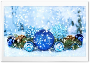 Blue Christmas Decorations 2016