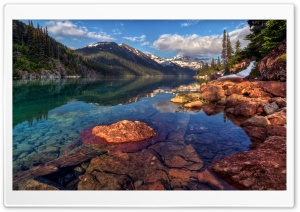 Mountain Lake With Clear Water