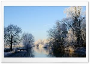 Crooked Rhine River   Winter