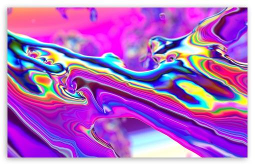 Download Abstract Iridescent Liquid Art UltraHD Wallpaper