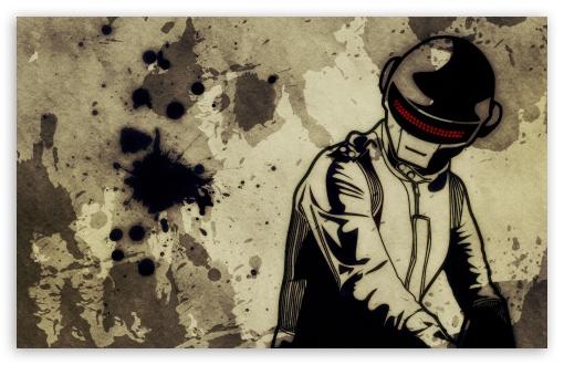 Download Daft Punk Grunge Surface UltraHD Wallpaper