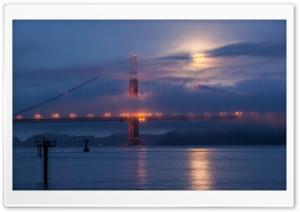 Moon rising over San...