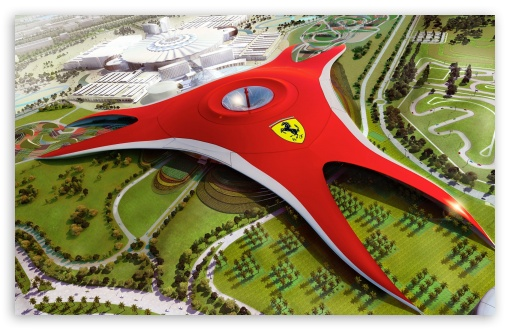 Download Abu Dhabi Yas Ferrari World UltraHD Wallpaper
