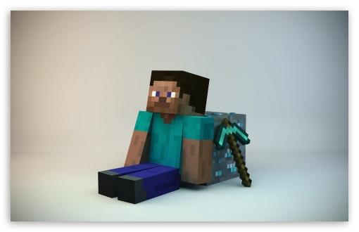 Download Minecraft Guy UltraHD Wallpaper