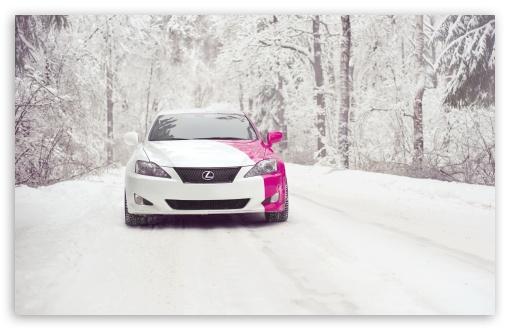 Download Lexus IS 250 Snow UltraHD Wallpaper