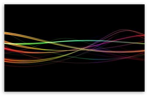 Download Colorful Light Trails UltraHD Wallpaper