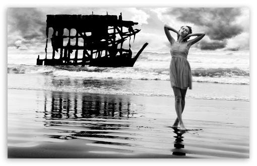 Download Shipwreck - Oregon Coast UltraHD Wallpaper