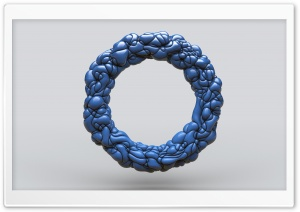 Abstract Blue Ring