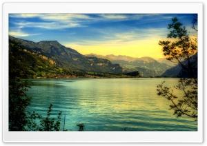 Beautiful Mountains Lake, HDR