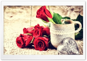 Love, Fresh Cut Red Roses,...