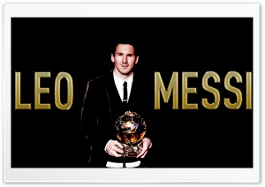 Messi with the Ballon...